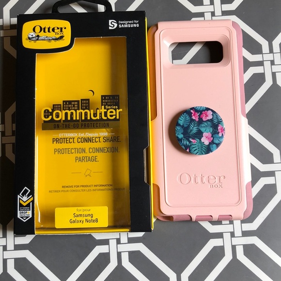 separation shoes 4ef7a 758a6 Samsung note 8 otterbox with pop socket